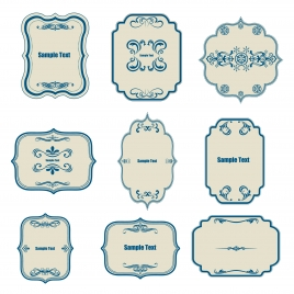 classical border templates collection