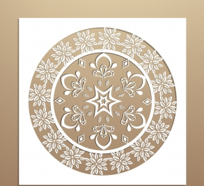 classical decorated background symmetric cut style circle decoration