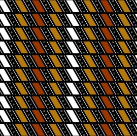 classical ethnic pattern colored repeating cross style