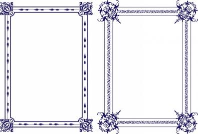 classical frames design violet style decoration