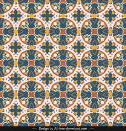 classical pattern template colorful repeating symmetrical decor