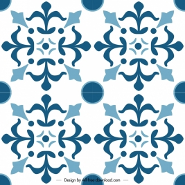 classical pattern template flat blue symmetrical decor