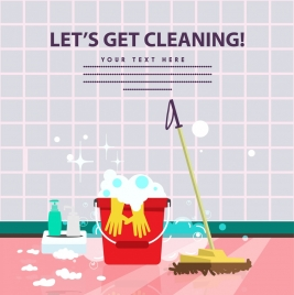 cleaning promotion advertisement housework icons decoration