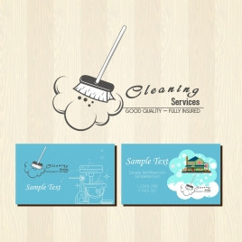 cleaning service advertising housework tools icons ornament