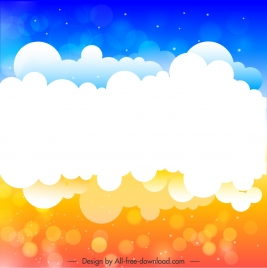 cloudy sky background bright vivid bokeh decor