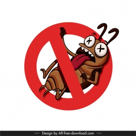cockroach kill sign funny cartoon sketch