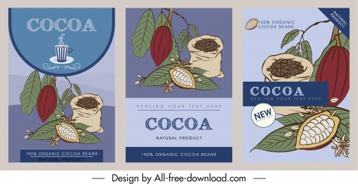 cocoa leaflet templates retro handdrawn sketch