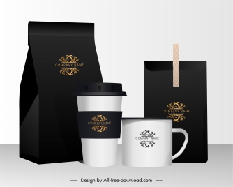 coffee advertising background shiny elegant realistic package cup