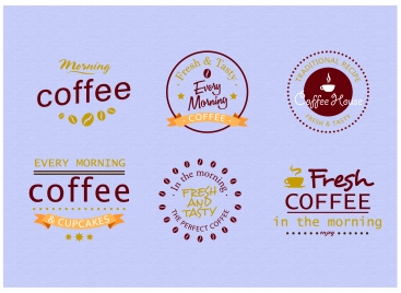 coffee label design with various styles
