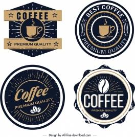 coffee label templates classical black design