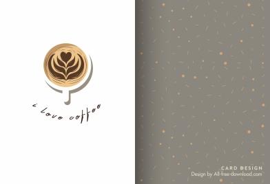 coffee menu card template cup sketch elegant decor