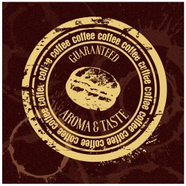 coffee quality guarantee stamp illustration with retro style