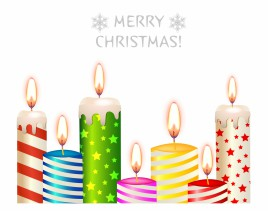 Color Christmas candles