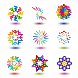colorful abstract shape for logo design