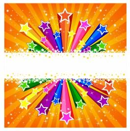Colorful Bursting Star