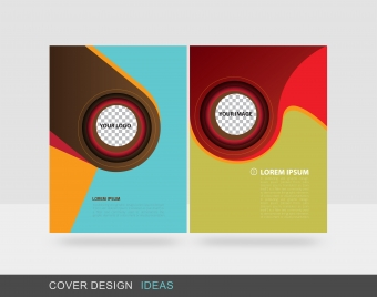 colorful circle cover vector design brochure template