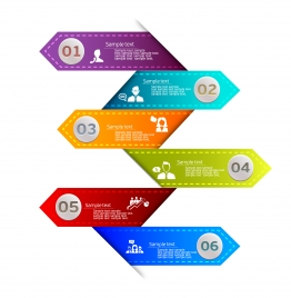 colorful leather tags vector illustration of infographic diagram