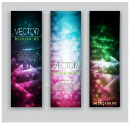 colorful light abstract banner set