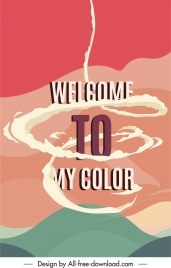 colors banner colorful dynamic design