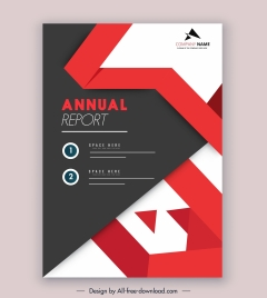 company annual report template elegant modern design