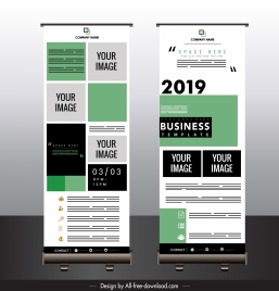 company banner template modern colorful plain layout
