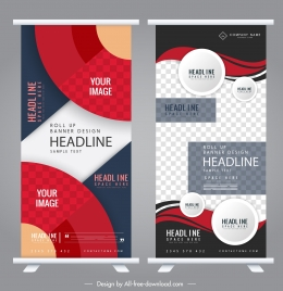 company banner templates abstract colorful modern vertical design