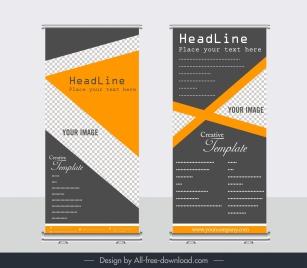 company banner templates elegant dark triangle checkered decor
