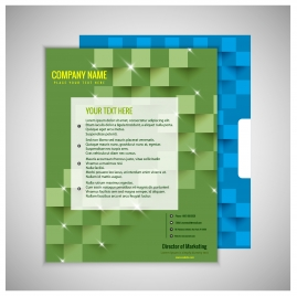 company brochure design with bright modern style