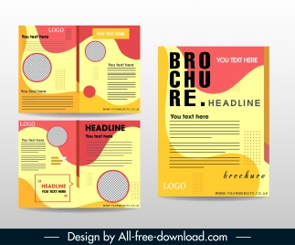 company brochure template abstract colorful modern decor