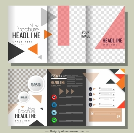 company brochure templates modern colorful checkered geometric decor
