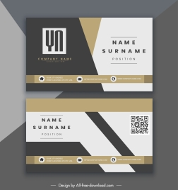 company name card elegant modern colorful decor