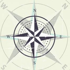 compass background classical arrow circle decor vignette design