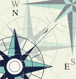 compass background closeup retro vignette design