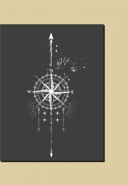 compass background retro black white sketch