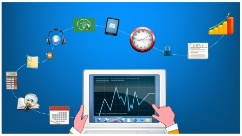 computing vector illustration with user interface icons