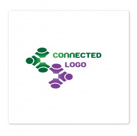 connecting people logo type