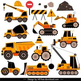 construction work design elements heavy equipment sketch