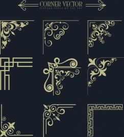 corner design elements classical vintage design
