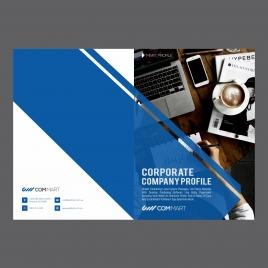 corporat blue brochure