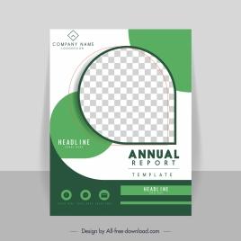 corporate annual report cover template elegant green checkered