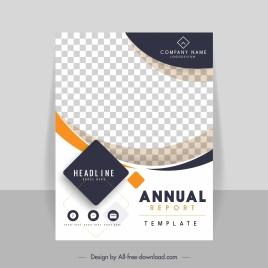 corporate annual report template bright modern checkered decor
