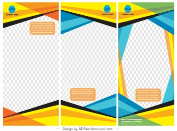 corporate banner backgrounds colorful checkered decor vertical design