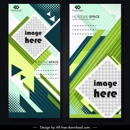 corporate banner template colorful modern geometric decor