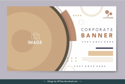 corporate banner template elegant bright modern design