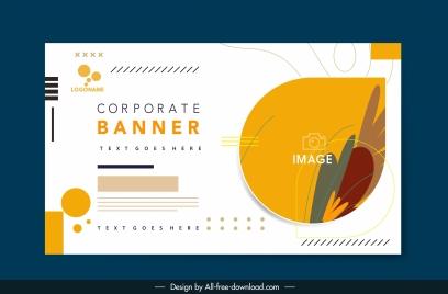 corporate banner template elegant flat bright decor