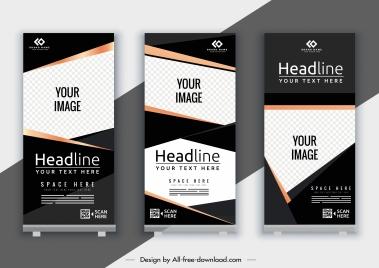 corporate banner template elegant modern decor vertical shape