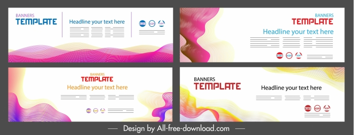 corporate banner templates bright colorful modern decor