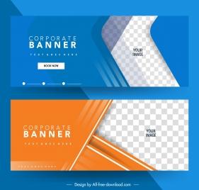 corporate banner templates bright elegant checkered decor