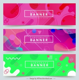 corporate banner templates colorful abstract geometric decor