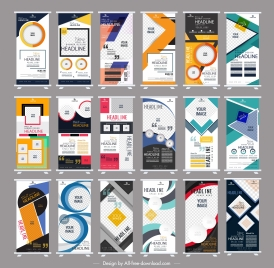 corporate banner templates colorful modern abstract vertical shape
